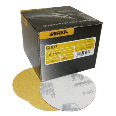 Mirka Gold Schuurschijven Ø77mm zonder gaten