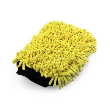 Martin Cox Microvezel Washandschoen met Dreadlocks (geel)