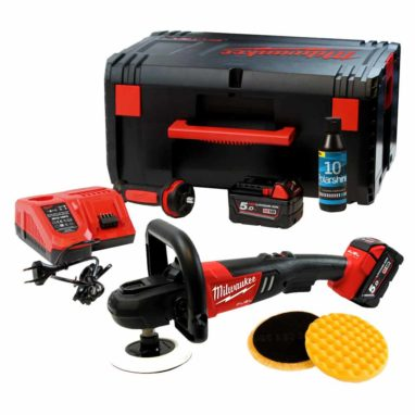 Milwaukee M18 Fuel 7 Snoerloze Accu Polijstmachine 180mm complete set